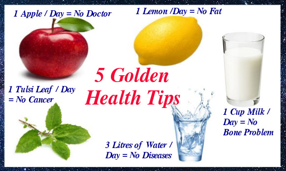 Five Golden Health Tips