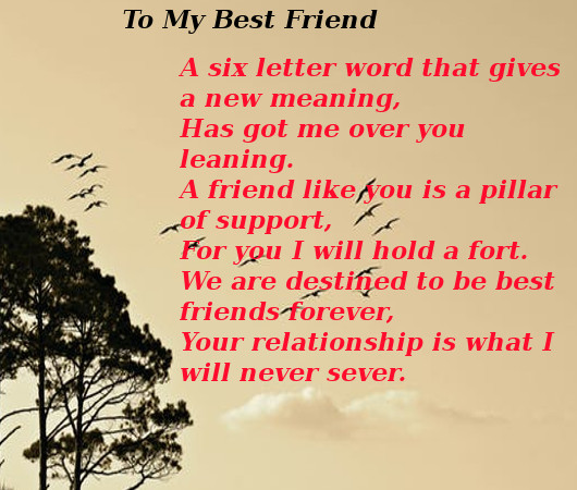 friendship poems that rhyme for best friends